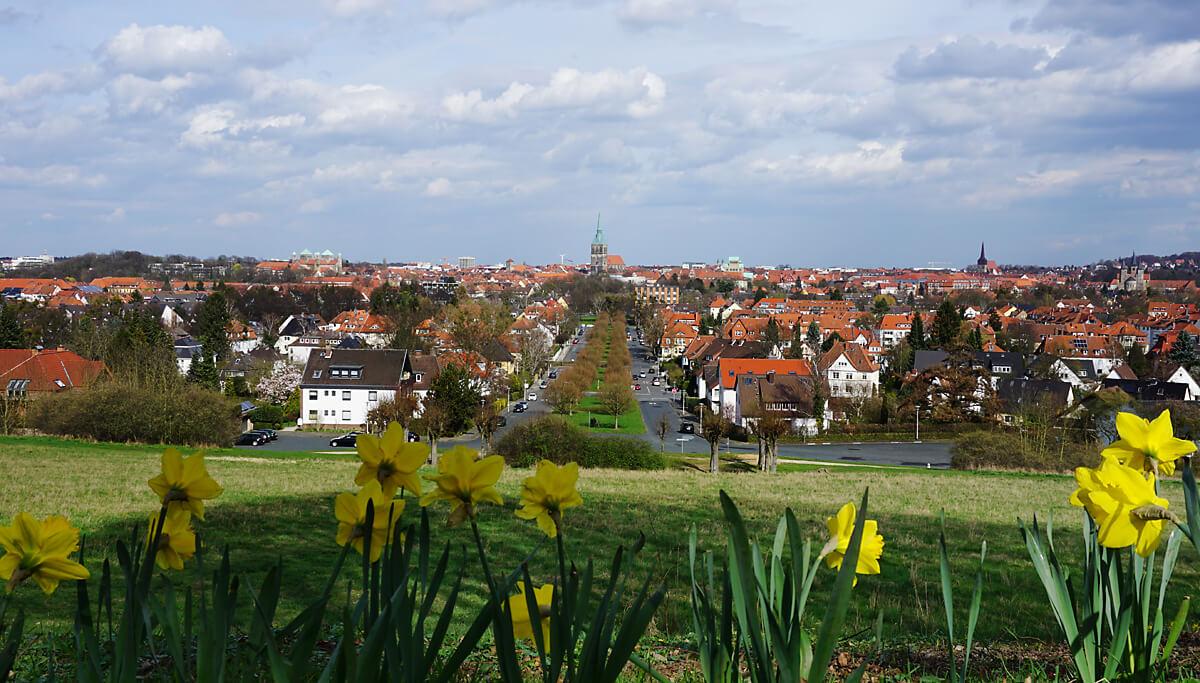 Städtetour Hildesheim: Blick auf die Stadt