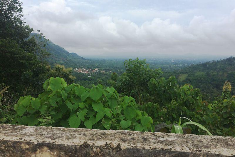Grüne Umgebung von Kpalimé
