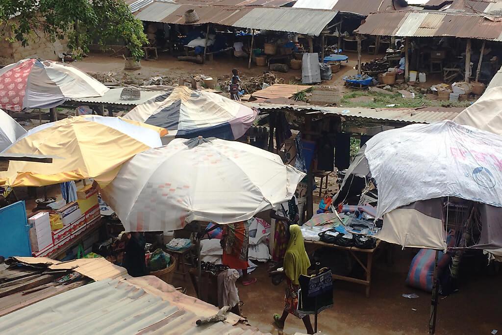 Blick auf den marché Kpalimé