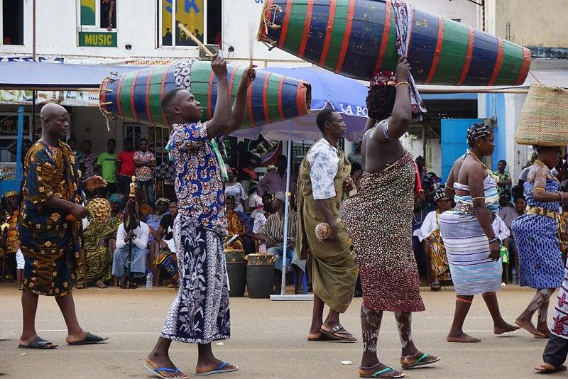 Trommler beim Dzawuza Fest