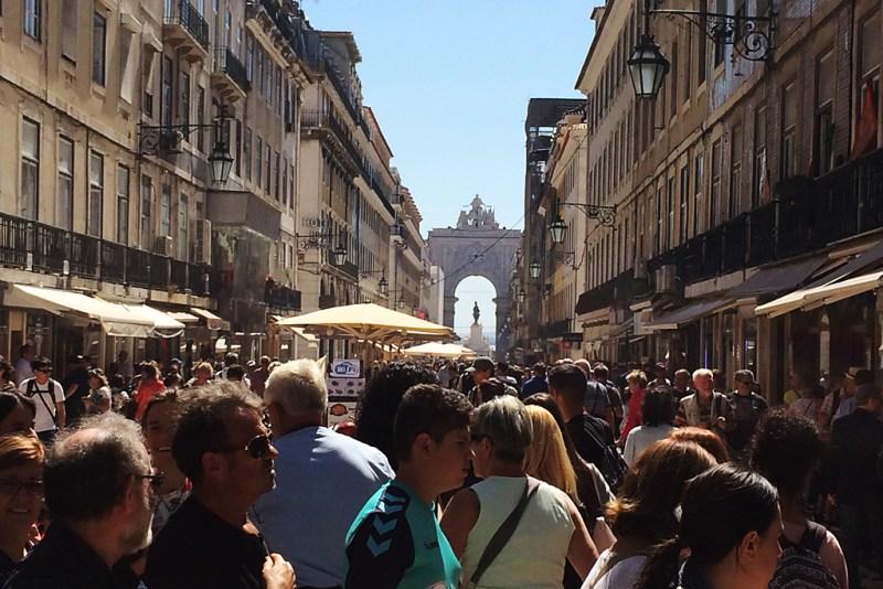 Flaniermeile in Lissabon