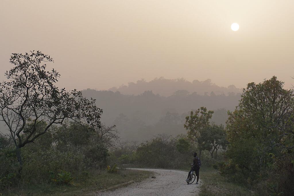 Plateau Danyi während des Harmattan in Togo