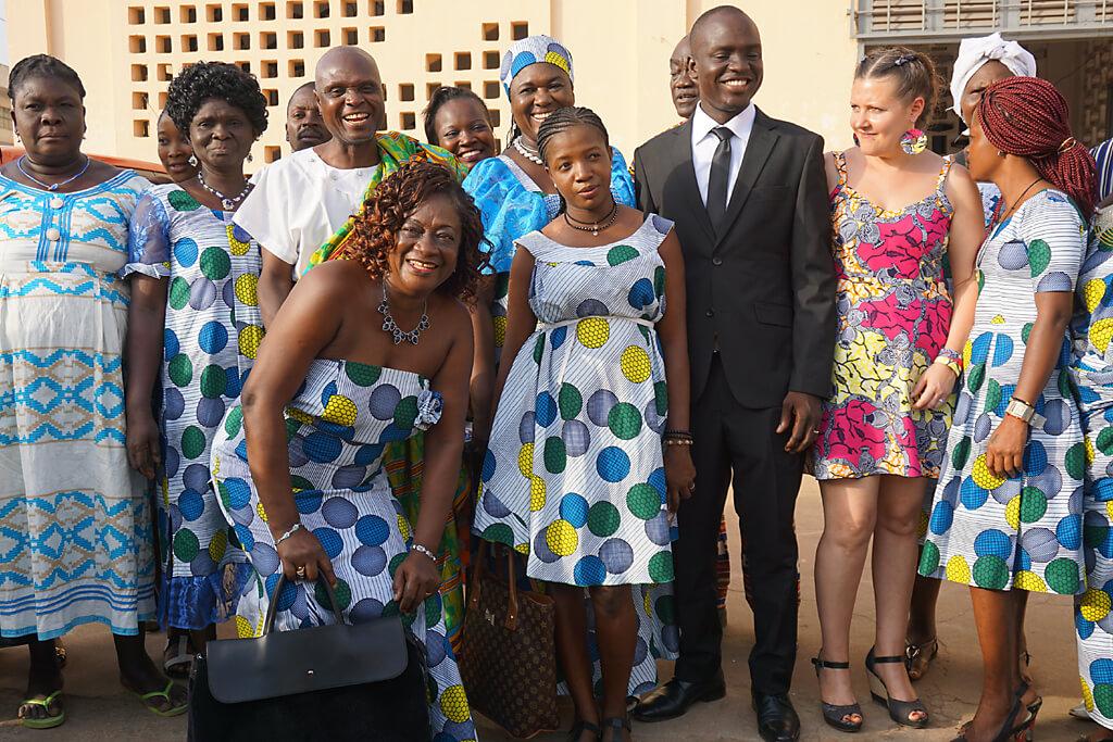 Hochzeitsgesellschaft in Kpalimé in Togo