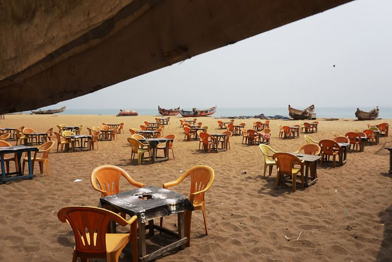 Restaurant am Strand von Lomé