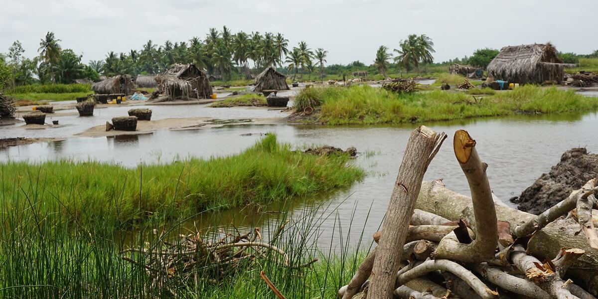 Lagune Ouidah in Benin