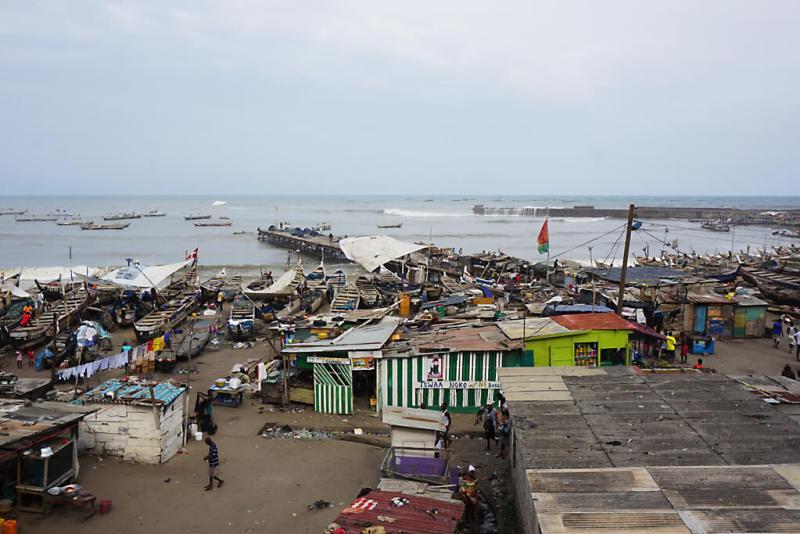 Fischersiedlung von Accra