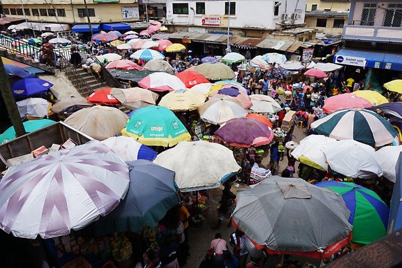 Makola market von Accra in Ghana