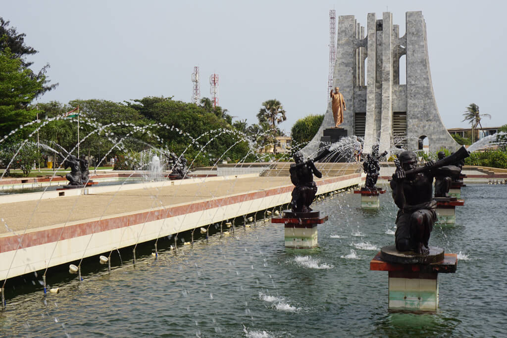 Kwane Nkrumah Parc und Monument in Accra