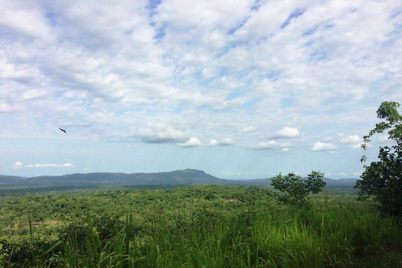 Blick über das Tal vor dem Plateau Danyi
