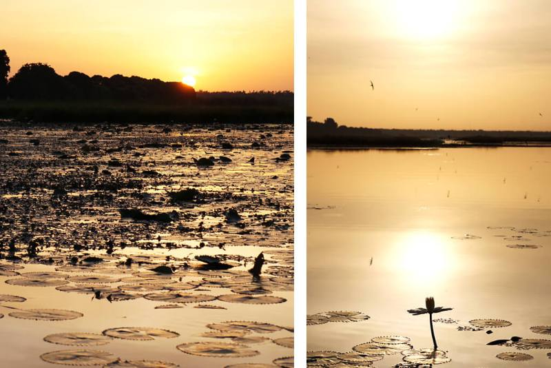 Sonnenaufgang über dem Lac Tengrela in Burkina Faso