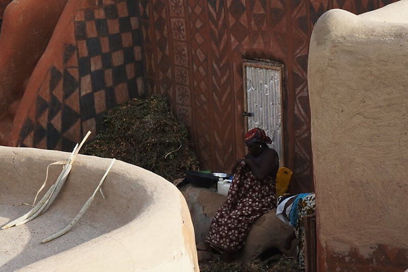 Traditionelles Leben in Tiebele in Burkina Faso