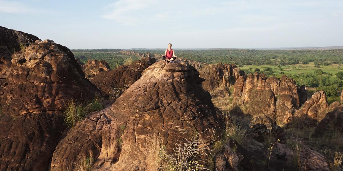 Hoch oben auf den Sindou Pics in Burkina-Faso