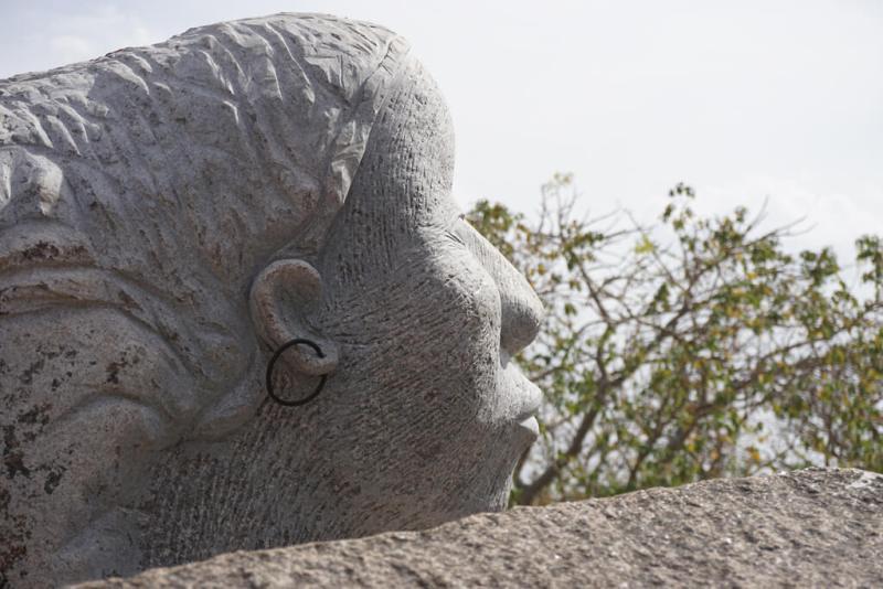 Sculpture im Park der Steinskupturen bei Ouagadougou in Burkina Faso