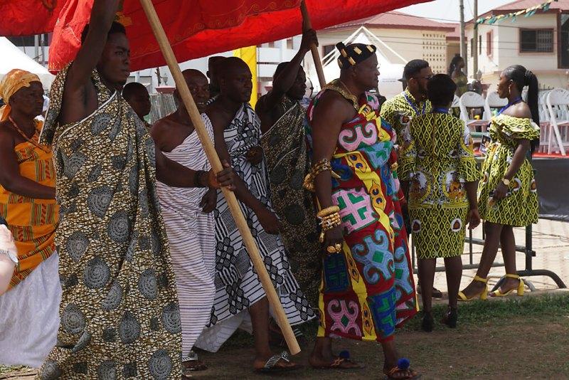 Einmarch tradtitionelle Chefs Königsjubiläum der Aschanti in Kumasi in Ghana