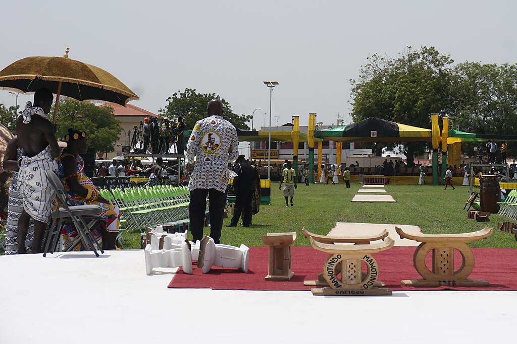 Vorbereitung des Thronjubiläums des Ashanti Königs in Kumasi, Ghana