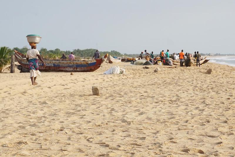 Am Strand in Ghana in Keta