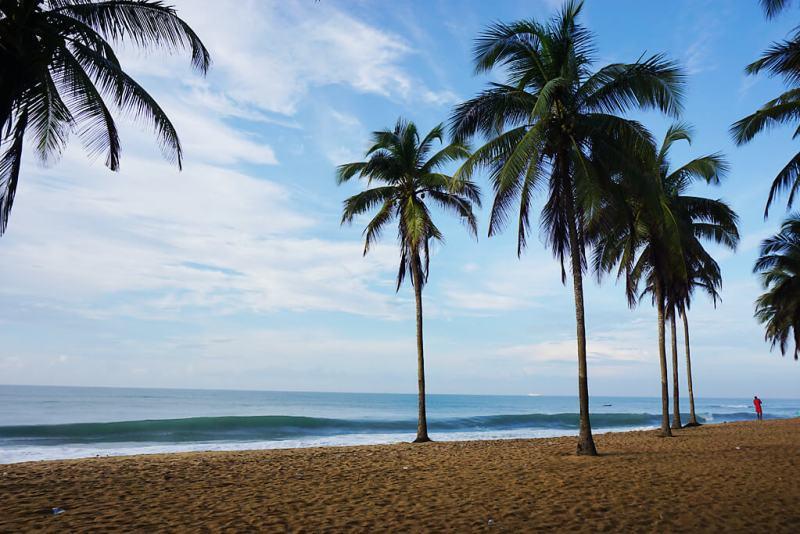 Strand in Avepozo in Togo