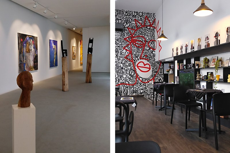 Kunstgalerie und modernes Café in Abidjan