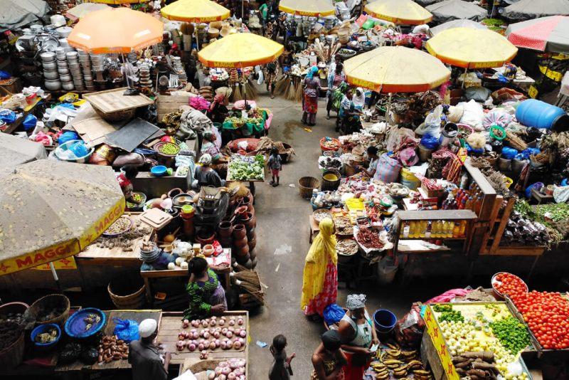 Markt in Treichville Abidjan