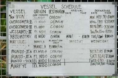 El Nido Port vessel schedule