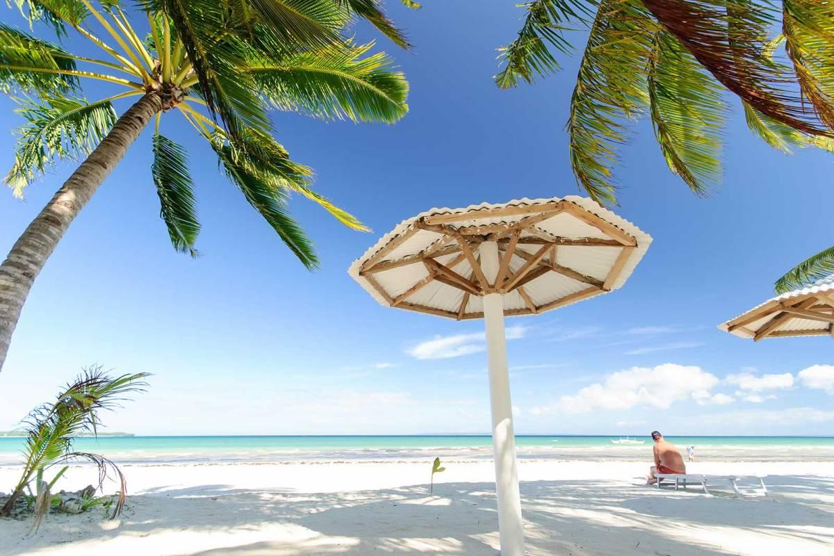 Abaniko Beach Resort's beachfront, Bantayan Island