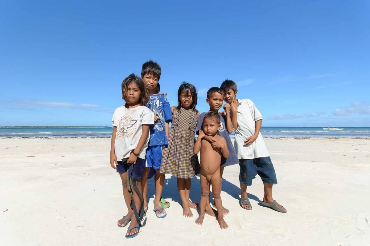 Bantayan Island kids at Alice Beach