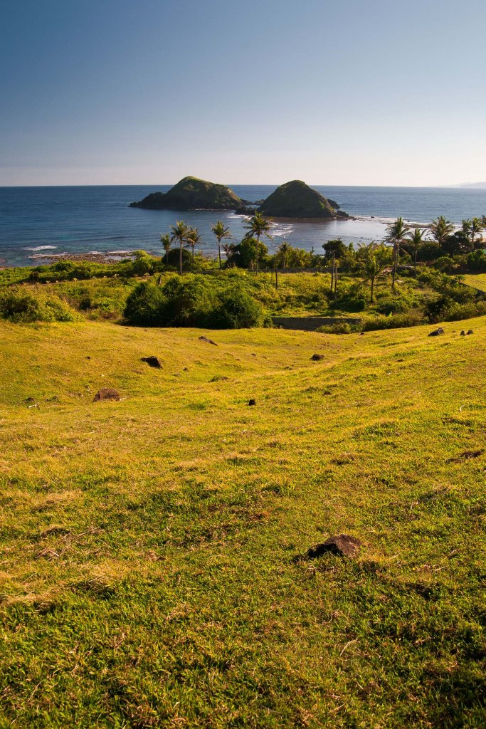 The Dos Hermanos Islands as seen from atop the hill behind Casa Consuelo, Pagudpud