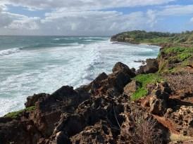 Mahaulepu Hike crashing waves