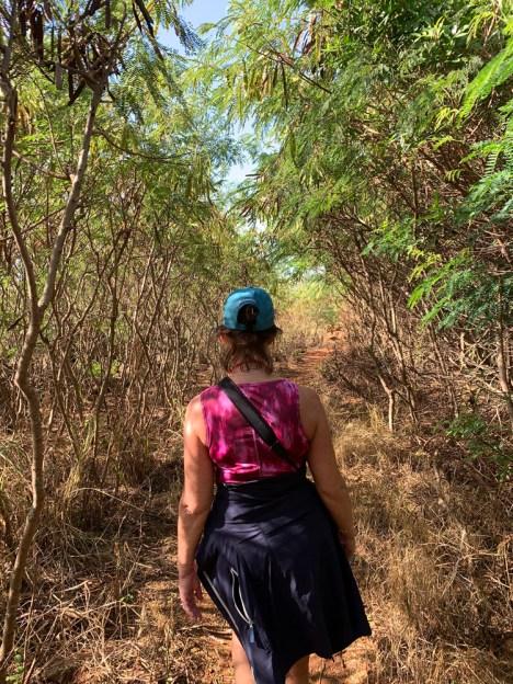 Mahaulepu Hike through the vegetation