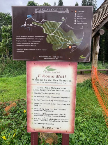 A map of the trail