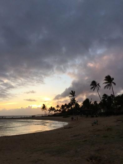 A sunset facing west