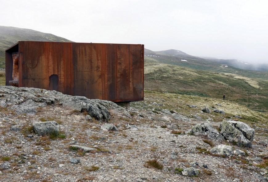 za pižmoňmi Snøhetta, Dovrefjell, Norway, Norsko