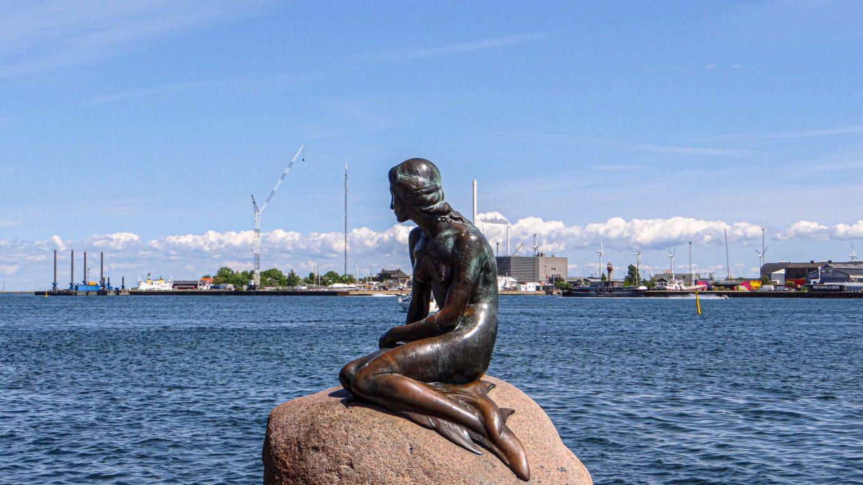 The Little Mermaid in Copenhagen, Denmark!