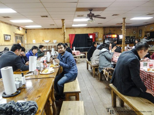 An exciting night in Hualapai Ranch in Grand Canyon, Arizona USA, Grand Canyon West Rim, Travel Realizations, Dining Hall