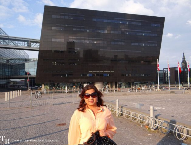 Black Diamond in Copenhagen, Denmark, the national library of Denmark and Copenhagen university, Travel Realizations