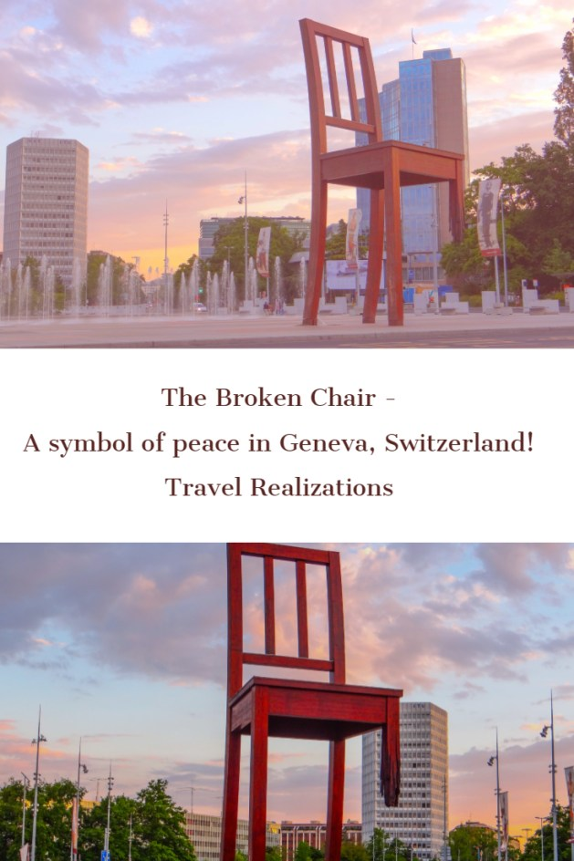 This 12 meter high, broken chair, in front of European headquarters of the United Nations in Geneva, Switzerland echoes a simple message; remember the victims of land mines,urge your government to promote a ban on land mines. #Travel #Switzerlad
