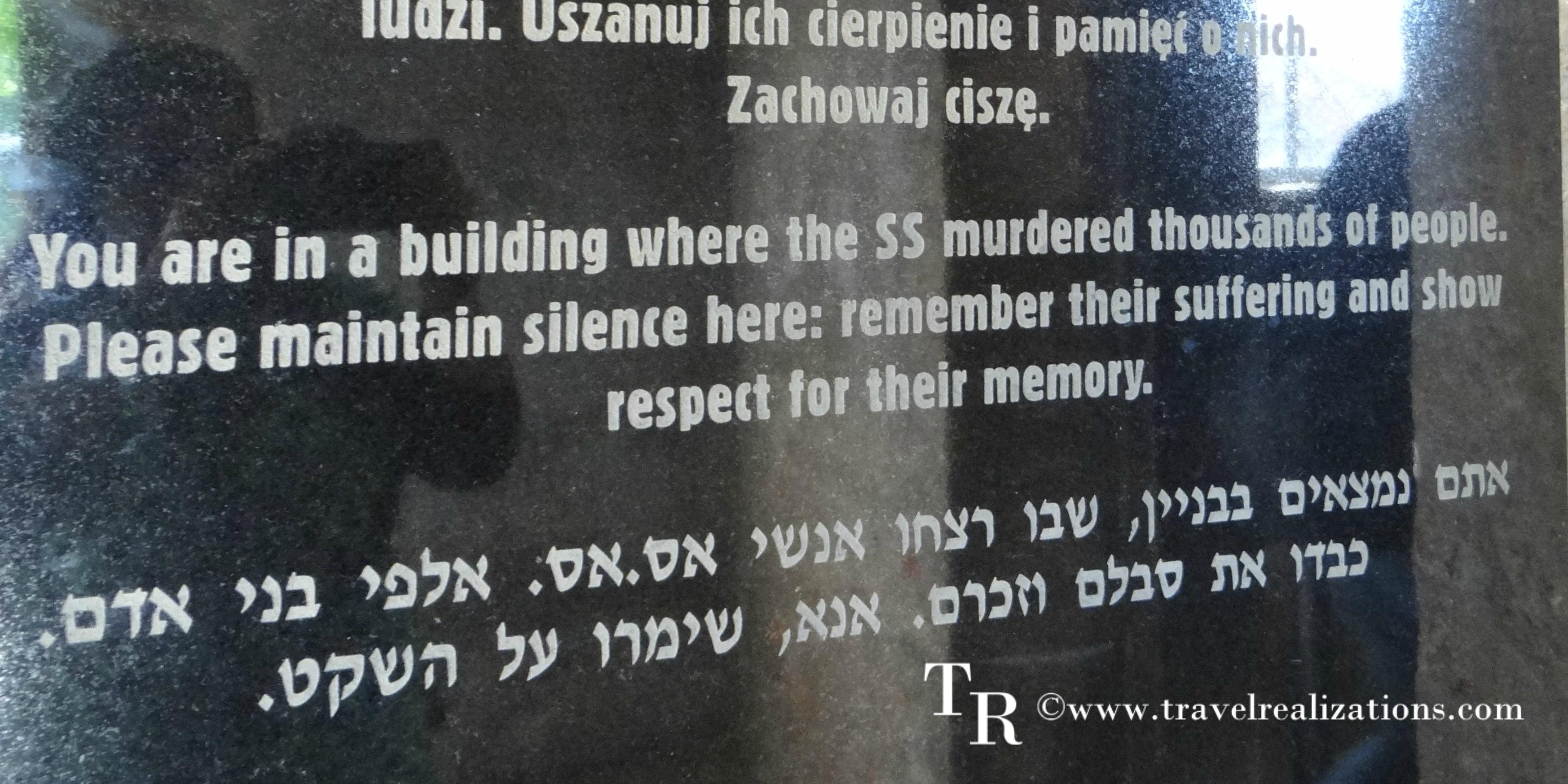 The tragic road of death in Auschwitz, Poland !
