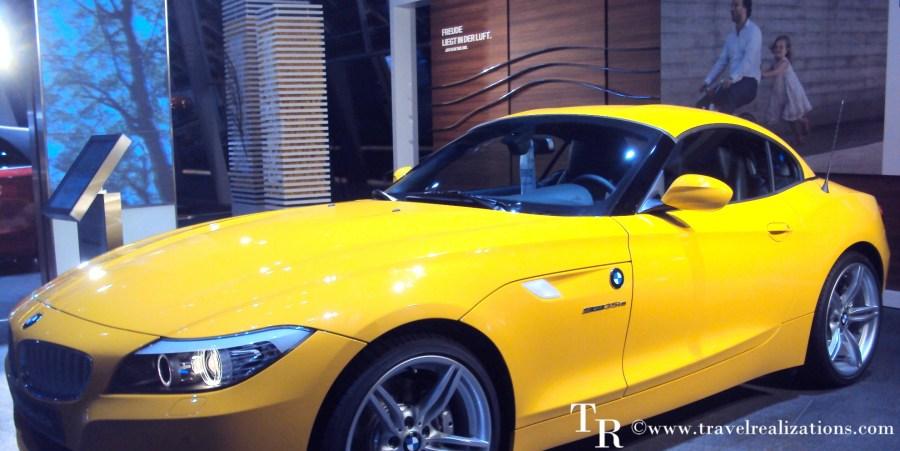BMW car, inside BMW museum.