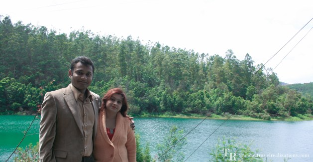 Beside lake Avalanche in Ooty.