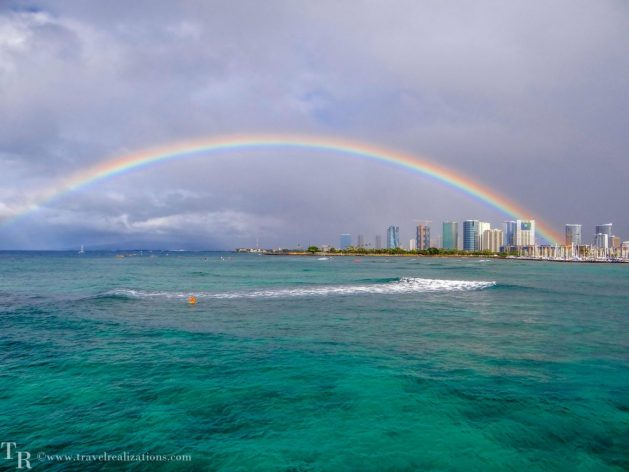 A beautiful rainbow in Waikiki, Travel Realizations, Pacific, Hawaii, In the depths of the Pacific - A submarine tour in Hawaii