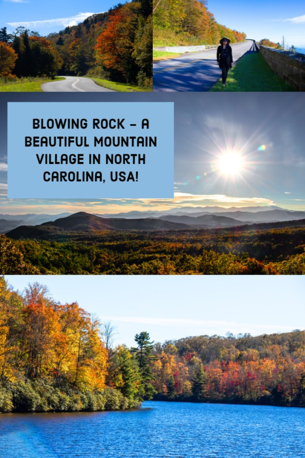 Blowing Rock is a beautiful mountain village on the scenic Blue Ridge Parkway in North Carolina, USA. Blowing Rock to me is like a storybook. #NorthCarolina #BlowingRock #BlueRidgeParkway #USA #Travelblog #traveltips #america