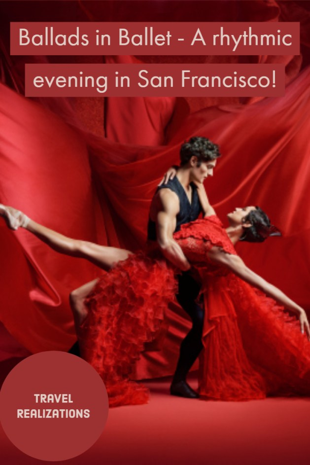 I was reveling in the flow of music, dance, and drama inside the beautiful auditorium of the San Francisco Ballet. It is hard to describe the feelings that art and artist unbind in us unless we experience it ourselves. I highly recommend seeing a show by the San Francisco Ballet. #travel #SanFrancisco #USA #Ballets #Dance #Culture #Travelblog #TravelTips #Sanfran
