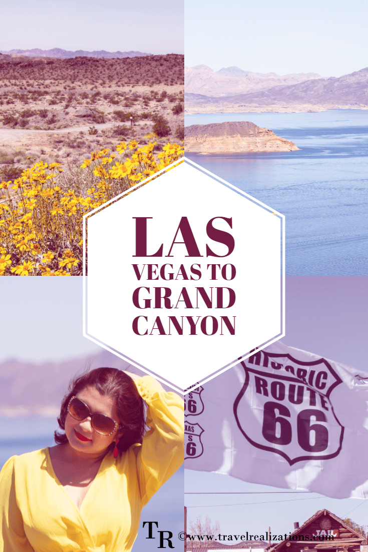 It is hard to wrap my journey from Las Vegas to Grand Canyon in just one sentence. During this trip, I saw Lake Mead, Route 66 and desert wildflowers. #GrandCanyon #LasVegas #USA #Roadtrip #Traveltips #Travel #Travelblog