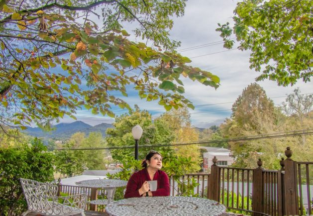 A coffee cup and a story in the Great Smoky Mountains, Travel Realizations, Bryson city