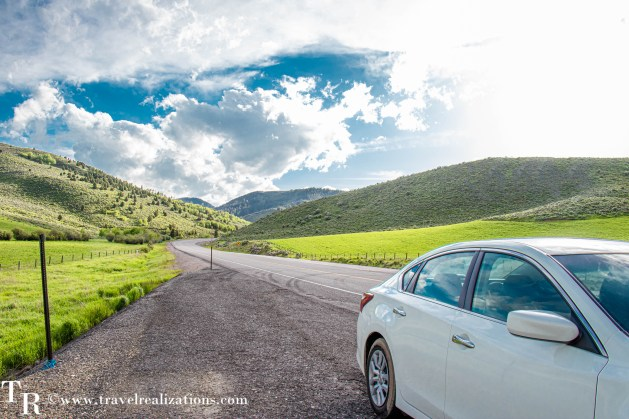 Salt Lake City to Yellowstone - A road trip guide, Travel Realizations, Montpelier Canyon Road