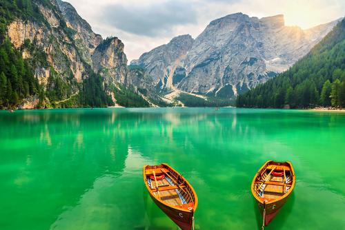 Braies lake Italy