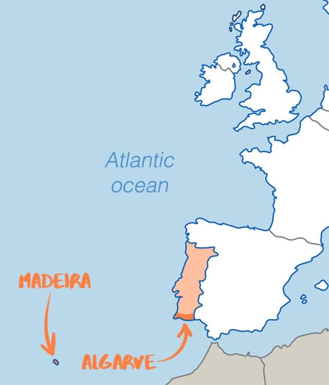 Madeira Algarve Map