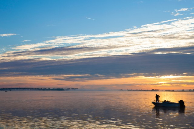 It's never too early for those Early Morning Bass Fishermen on Lake Tohopekaliga (Toho) which is one of the top Bass Fishing Tourist Destinations in the USA.