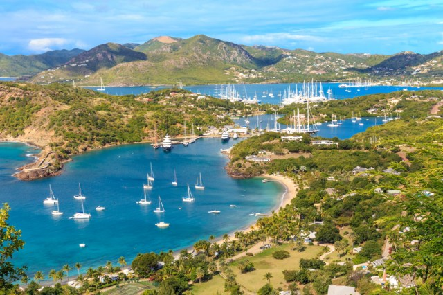 View of Antigua from Shirley's Heights