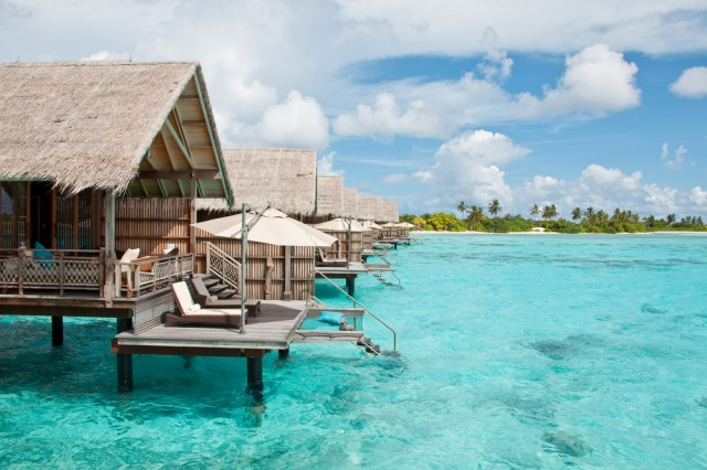 Water huts in the Maldives